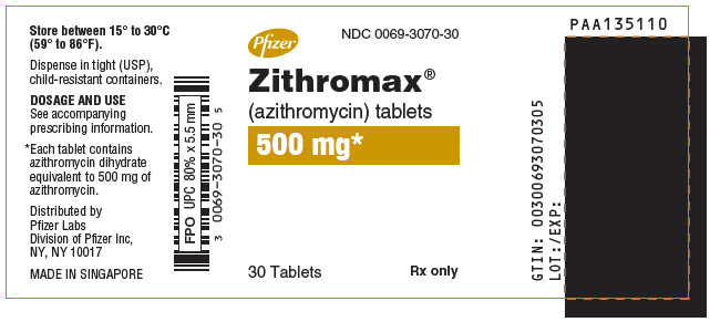 PRINCIPAL DISPLAY PANEL - 500 mg - 30 Tablet Bottle Label