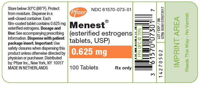 PRINCIPAL DISPLAY PANEL - 0.625 mg Tablet Bottle Label